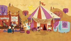 The run-down circus | Just Too Cute | Running Press