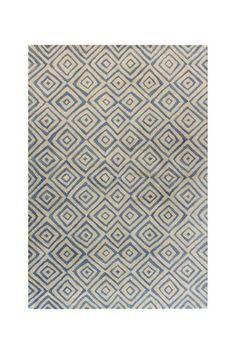 Casablanca Wool Rug - Ivory/Blue by Bashian on @HauteLook