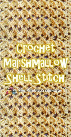 Crochet  Marshmallow Shell Stitch