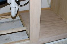 How to replace water damaged cabinet bottom making stock - How to repair water damaged kitchen cabinets ...