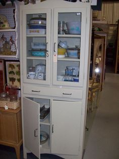 SALE   Vintage Kitchen Cupboard Glass Doors by roosteriver on Etsy, $175.00