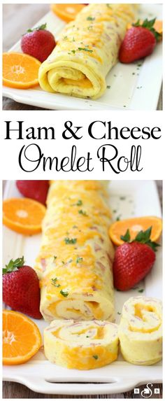 Ham & cheese omelet roll