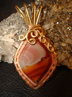 Noreena Jasper Pendant Look at that wire work-incredibly beautiful