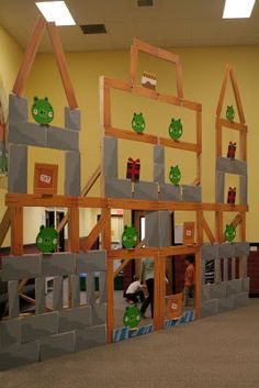 Josh's creation--the Angry Birds game