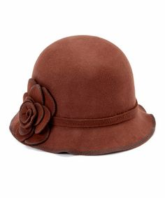 Another great find on #zulily! Chocolate Rosette Wool Cloche by Jeanne Simmons Accessories #zulilyfinds