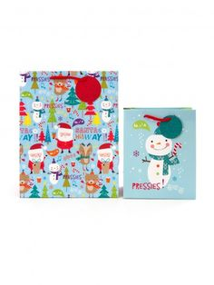 Santa & Friends Christmas Gift Bag Multipack - Gift Bags - Gift Wrap - Christmas | Clintons