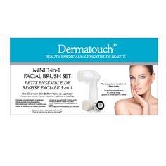 Dermatouch Mini 3-in-1 Facial Brush Set + 2 Attachments