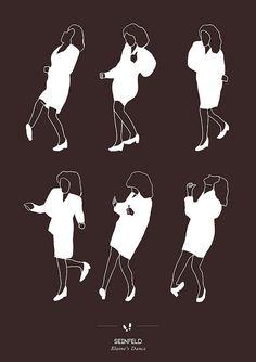 Seinfeld - Elaine's Dance print