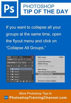 """If you want to collapse all your groups at the same time, open the flyout menu and click on """"Collapse All Groups."""""""
