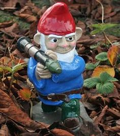 1000 images about funny garden gnomes on pinterest for Combat gnomes for sale