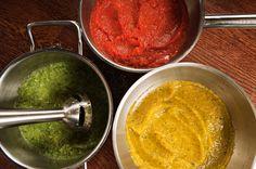 Enklere kan det ikke bli! Kjør grønnsaker med en stavmikser sammen med krydder, og vips så har du deilige grønnsaksauser som du kan servere til pasta, som dipp eller som til...