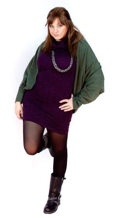 Green, purple, black! Curvy or Plus Size Outfit taglia 48 50