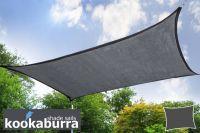 Kookaburra 5.4m Square Charcoal Breathable Shade Sail (Knitted)