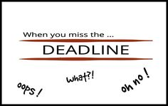 My website – 5 lessons learned when I missed the deadline