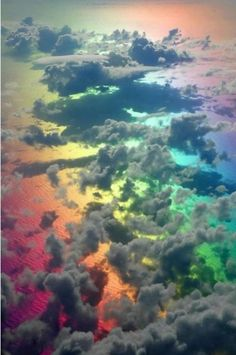 Clouds over the Rainbow. Somewhere over the rainbow, and clouds. All Nature, Science And Nature, Amazing Nature, Rainbow Cloud, Over The Rainbow, Fire Rainbow, Rainbow Water, Cloud 9, Dark Cloud