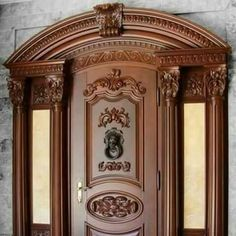 Tv Wall Design, Gate Design, Ceiling Design, Wooden Main Door Design, Front Door Design, Main Entrance Door, Entry Doors, Wooden Arch, Wooden Doors