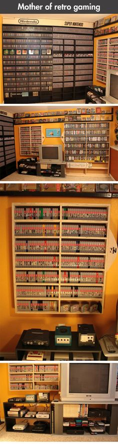 Retro gaming taken to the next level… I can't even tell you how jealous I am! I just wanna sit in that room!!!