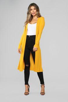 a4fee1db394a Look My Way Cardigan - Mustard. Cardigan Outfits ...