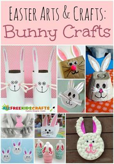 NEW! Easter Arts and Crafts: 29 Bunny Crafts