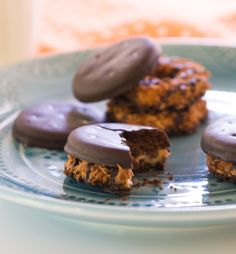 Thin Mints and Samoas Girl Scout Cookies Best Girl Scout Cookies, Gs Cookies, Thin Mints, Cookie Time, Pick One, Girl Scouts, Muffin, Treats, Breakfast