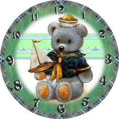 RELOJ PARA BEBÉ Clock Art, Diy Clock, Wall Clocks, Clock Face Printable, Vintage Labels, Vintage Ephemera, Printable Designs, Cat Drawing, Paper Cards
