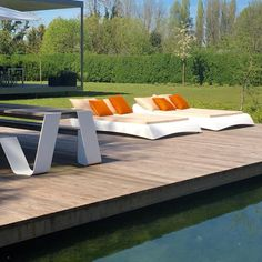 Nice combination and Outdoor Furniture, Outdoor Decor, Sun Lounger, Nice, Bed, Summer, Design, Home Decor, Chaise Longue