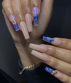Bling Acrylic Nails, Summer Acrylic Nails, Best Acrylic Nails, Coffin Nails Glitter, Coffin Shape Nails, Long Square Acrylic Nails, Glow Nails, Cute Acrylic Nail Designs, Luxury Nails