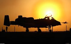 A-10 in the sunset