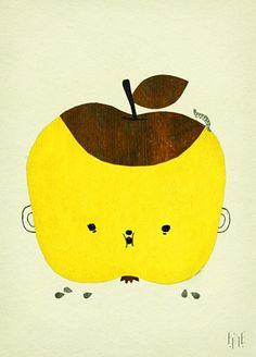 Fine Little Day Poster Apple Papple 50x70cm