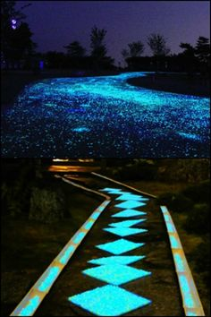How would you like a driveway that twinkled like fairy lights every night?