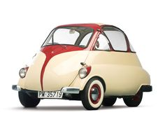 1955 Iso Isetta - bubble cars were entered from the front - the whole front section was a hinged door - so if parked too close to something you could not get in or out. Bmw Isetta, Luxury Sports Cars, Sport Cars, Automobile, Mini Car, Focke Wulf, Bmw Classic Cars, Rolls Royce, Vw T1