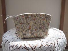 Linen Clutch Cosmetic Bag  Purse Paris in by Antiquebasketlady, $13.00 #clutch #Paris