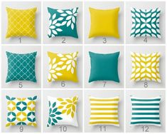 Throw Pillow Covers Mustard Yellow Teal White Accent Pillow Cover Couch Cushion Cover Home Decor Living Room Pillow Geometric Pillow Cover - Throw oreiller couvertures moutarde jaune Teal blanc Accent - Couch Cushion Covers, White Pillow Covers, Couch Cushions, Decorative Pillow Covers, Throw Pillow Covers, Scatter Cushions, Teal Throw Pillows, Beige Pillows, Yellow Pillows