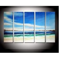 Blue sky White Sand Waves - Abstract Landscape Price: $97.99 #OilPainting #canvas #seascape