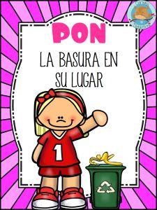 u15 Kindergarten Classroom Rules, Spanish Classroom, Spanish Posters, Magic Words, Teachers' Day, Educational Activities, Kids Education, Environmental Education, Pre School