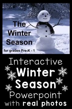 This PowerPoint presentation explains the winter season in simple terms using real, full-color photographs. Children will learn when the winter season occurs, the winter solstice, why it snows, what animals hibernate, and more. The last 2 slides test their understanding by having them choose clothes you would wear in the winter and animals that hibernate during the winter.  #winterseason #signsofwinter
