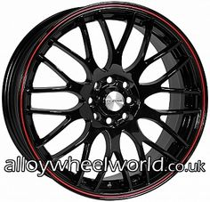 118 best alloy wheel images rims for cars car rims custom wheels 07 TL Type S Interior calibre motion 2 6 5x15 alloy wheels finished in black with red pin stripe rim