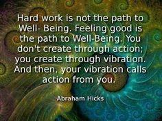 ...you create through vibration.....
