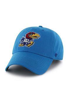 dacf129c7 Kansas (KU) Jayhawks 47 Brand Hat - Mens Light Blue Bergen Strapback Hat  http