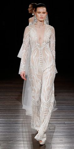 The Prettiest Spring 2017 Wedding Dresses from Bridal Fashion Week - Naeem Khan from InStyle.com