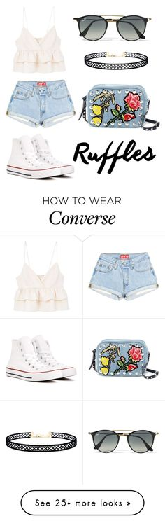 Sin título #265 by ana28928 on Polyvore featuring MANGO, Converse, Ray-Ban, LULUS and Steve Madden
