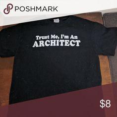"Architect T-shirt (measurements in description) Pit to pit 20"" Collar to hem 26"" Gildan Tops Tees - Short Sleeve"