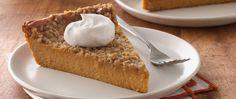 Add a twist to pumpkin pie by using orange peel, skim milk and eggs whites instead of whole eggs.