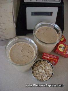 Oatmeal Breakfast Smoothie | Blender Recipe | kitchen-blender-reviews.com