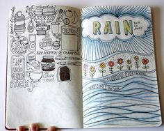 'A Day in the Life' pages by Elizabeth Caldwell for The Sketchbook Project #sketching #drawing