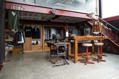 1346Venice Private store allows exclusive access to the 1346Venice Men's Apparel line with private fittings by appointment, within a restored warehouse setting. Guests can also view the World's largest collection of original Crocker Motorcycles. Visit: http://www.1346venice.com/store/