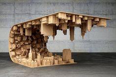 """Superbe table de Stelios Mousarris qui joue avec les lois de la réalité et nous éblouit au passage. Faite de bois et d'acier """"Wave City"""" utilise les technologies de l'impression 3D pour soigner chaque détail et ainsi donner un réalisme incroyable à ce design surréaliste.  Mind-blown !!   www.elise-franck.com  #elisefranck #elisefranckconseil #design #meuble #deco #decoration #investissementlocatif #immobilier #paris #investinparis #joy #opportunity #realestate #placement #argent #money…"""