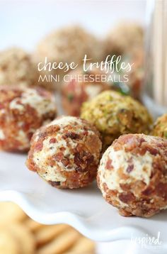 Cheese Truffles // Holiday Bacon-Inspired Appetizers   inspiredbycharm.com