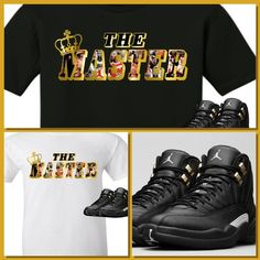 EXCLUSIVE TEE SHIRT to match the NIKE AIR JORDAN 12 XII MASTERS!-THE MASTER #COPEMCUSTOMS #GraphicTee