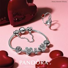 Celebrate the magic of love. Make this Valentine's Day special with the new DISNEY Mickey Mouse & Minnie Mouse True Love charm from PANDORA Jewelry.